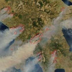 Una ola de incendios forestales causa decenas de muertos en Grecia